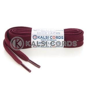 T638 8mm Flat Shoe Laces Tubular Porto Wine PG796 Sports Trainers Boots Footwear