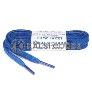 T638 8mm Flat Shoe Laces Tubular Royal Blue PG790 Sports Trainers Boots Footwear