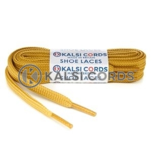 T638 8mm Flat Shoe Laces Tubular Sovereign Gold PG930 Sports Trainers Boots Footwear