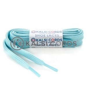 T638 8mm Flat Shoe Laces Tubular Turquoise PG390 Sports Trainers Boots Footwear