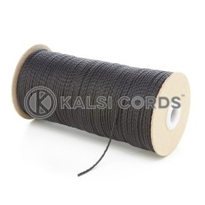 1.5mm Thin Black Polypropylene Cord String Rope Roll Spool P348 Kalsi Cords