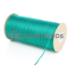 1.5mm Thin Emerald Green Polypropylene Cord String Rope Roll Spool P348 Kalsi Cords