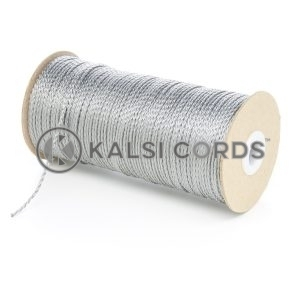 1.5mm Thin Grey Silver Polypropylene Cord String Rope Roll Spool P348 Kalsi Cords