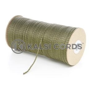 1.5mm Thin Khaki Olive Green Polypropylene Cord String Rope Roll Spool P348 Kalsi Cords