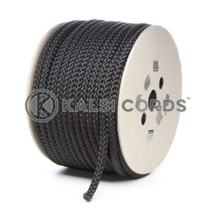10mm Black Polypropylene Cord Rope Roll Spool P254 Kalsi Cords