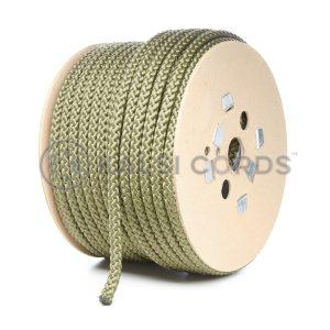 10mm Khaki Olive Polypropylene Cord on Roll P254 Kalsi Cords
