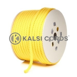 10mm Yellow Polypropylene Cord Rope Roll Spool P254 Kalsi Cords