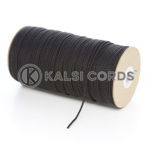 2mm Thin Black Polypropylene Cord String Rope Roll Spool P379 Kalsi Cords
