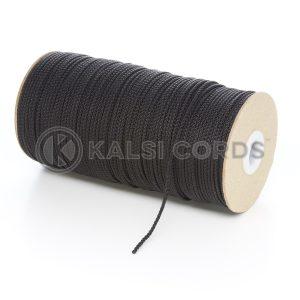 2mm Black Polypropylene Cord on Roll P379 Kalsi Cords