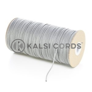 2mm Grey Silver Polypropylene Cord on Roll P379 Kalsi Cords