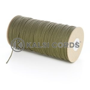2mm Thin Khaki Olive Green Polypropylene Cord String Rope Roll Spool P379 Kalsi Cords