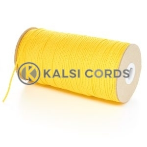 2mm Thin Yellow Polypropylene Cord String Rope Roll Spool P379 Kalsi Cords