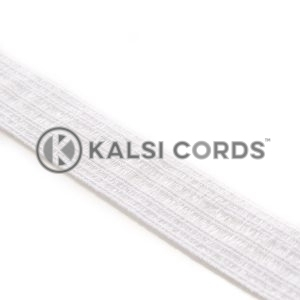 32mm Bonadex Waistband Elastic White Ecru by Kalsi Cords
