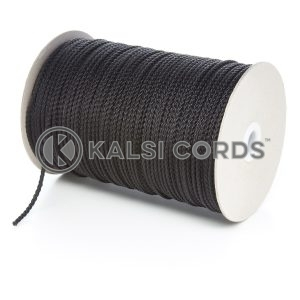 3mm Thin Black Polypropylene Cord String Rope Roll Spool P377 Kalsi Cords