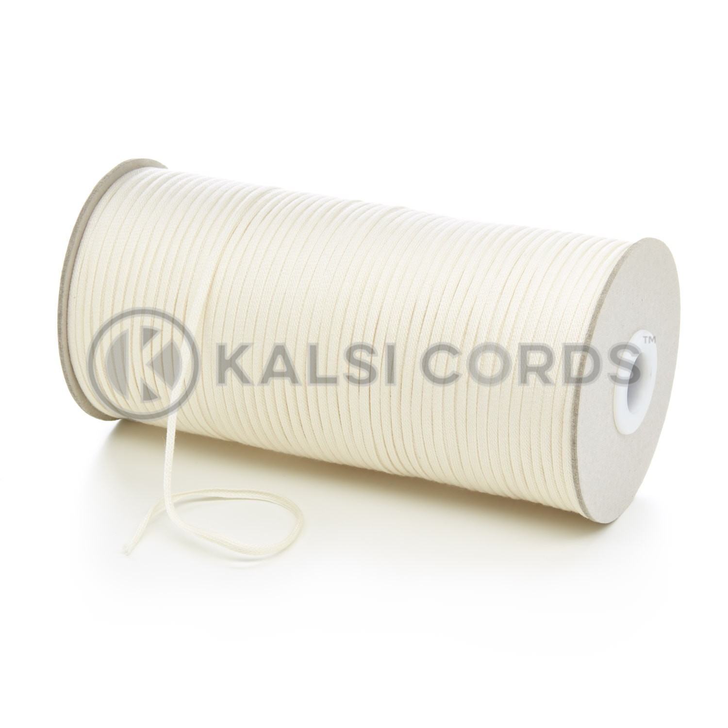 3mm Flat Cotton Braid Tape Cord Binding String Strapping TC14 Kalsi Cords