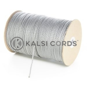 3mm Thin Grey Silver Polypropylene Cord String Rope Roll Spool P377 Kalsi Cords