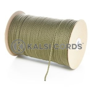 3mm Thin Khaki Olive Green Polypropylene Cord String Rope Roll Spool P377 Kalsi Cords
