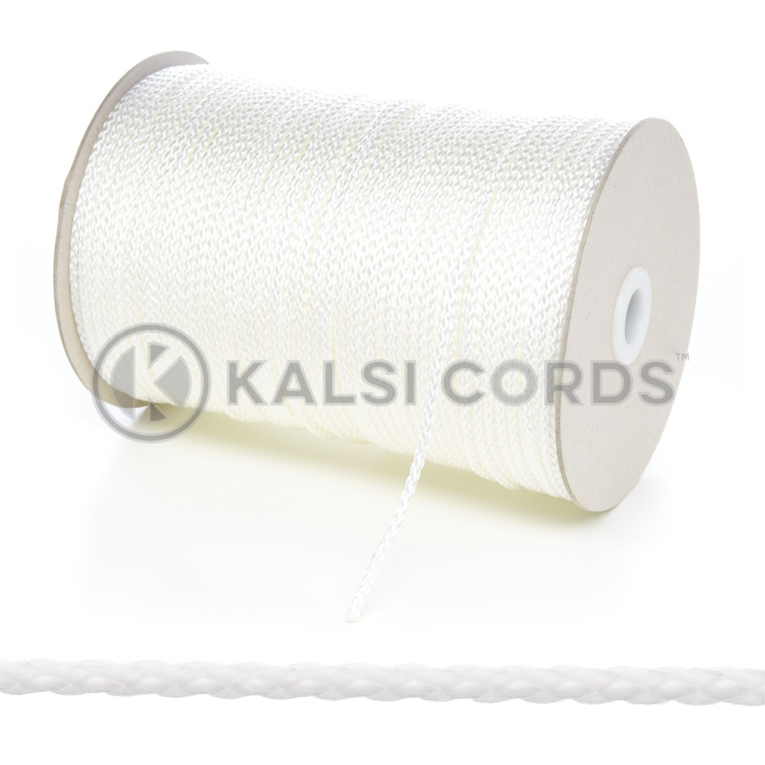 3mm Thin Natural White Polypropylene Cord String Rope Roll Spool P377 Kalsi Cords