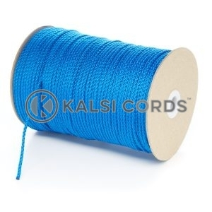 3mm Thin Royal Blue Polypropylene Cord String Rope Roll Spool P377 Kalsi Cords