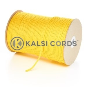 3mm Thin Yellow Polypropylene Cord String Rope Roll Spool P377 Kalsi Cords
