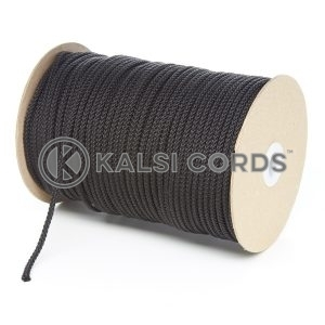 4mm Black Polypropylene Cord String Rope Roll Spool P299 Kalsi Cords