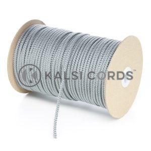 4mm Grey Silver Polypropylene Cord String Rope Roll Spool P299 Kalsi Cords