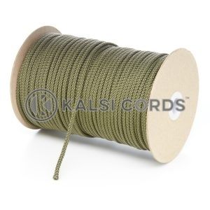 4mm Khaki Olive Green Polypropylene Cord String Rope Roll Spool P299 Kalsi Cords