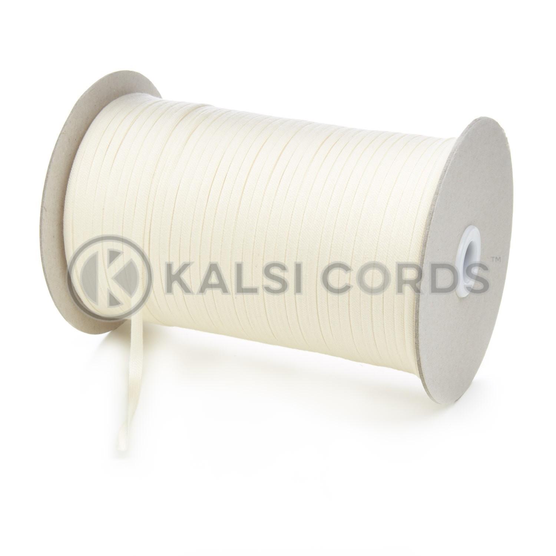 5mm Flat Cotton Braid Tape Cord Binding String Strapping TC16 Kalsi Cords