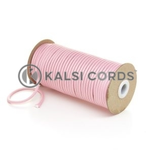 5mm Round Baby Pink Polyester Cord Braided String Drawcord Drawstring Joggers Hoody Bag T621 Kalsi Cords