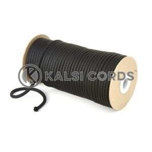 5mm Round Black Polyester Cord Braided String Drawcord Drawstring Joggers Hoody Bag T621 Kalsi Cords