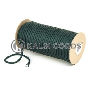 5mm Round Cedar Green Polyester Cord Braided String Drawcord Drawstring Joggers Hoody Bag T621 Kalsi Cords