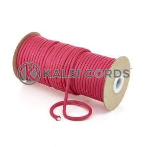 5mm Round Cerise Pink Polyester Cord Braided String Drawcord Drawstring Joggers Hoody Bag T621 Kalsi Cords