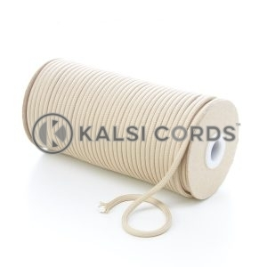 5mm Round Cream Polyester Cord Braided String Drawcord Drawstring Joggers Hoody Bag T621 Kalsi Cords