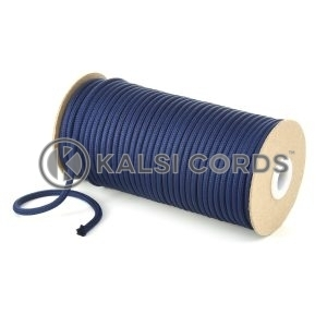 5mm Round Dark Blue Polyester Cord Braided String Drawcord Drawstring Joggers Hoody Bag T621 Kalsi Cords