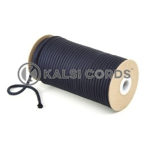 5mm Round Dark Navy Polyester Cord Braided String Drawcord Drawstring Joggers Hoody Bag T621 Kalsi Cords