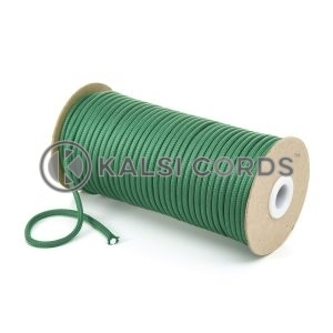 5mm Round Emerald Green Polyester Cord Braided String Drawcord Drawstring Joggers Hoody Bag T621 Kalsi Cords