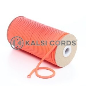 5mm Round Fluorescent Neon Pink Polyester Cord Braided String Drawcord Drawstring Joggers Hoody Bag T621 Kalsi Cords
