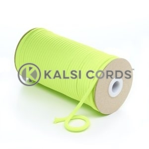 5mm Round Fluorescent Neon Yellow Polyester Cord Braided String Drawcord Drawstring Joggers Hoody Bag T621 Kalsi Cords