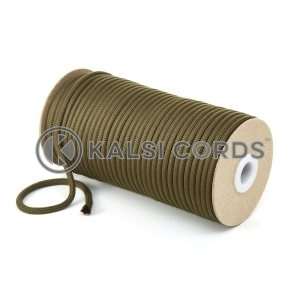 5mm Round Khaki Olive Green Polyester Cord Braided String Drawcord Drawstring Joggers Hoody Bag T621 Kalsi Cords