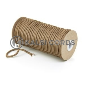 5mm Round Light Fawn Polyester Cord Braided String Drawcord Drawstring Joggers Hoody Bag T621 Kalsi Cords