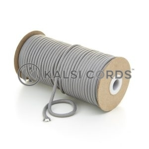 5mm Round Light Grey Polyester Cord Braided String Drawcord Drawstring Joggers Hoody Bag T621 Kalsi Cords