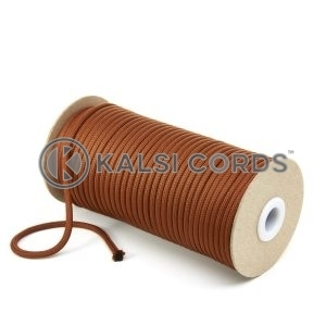 5mm Round Nutmeg Brown Polyester Cord Braided String Drawcord Drawstring Joggers Hoody Bag T621 Kalsi Cords