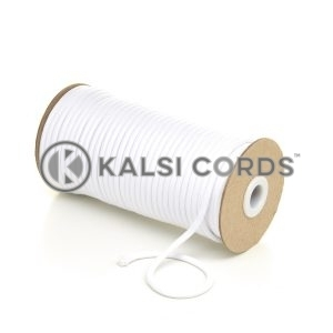 5mm Round Optic White Polyester Cord Braided String Drawcord Drawstring Joggers Hoody Bag T621 Kalsi Cords