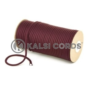 5mm Round Porto Wine Polyester Cord Braided String Drawcord Drawstring Joggers Hoody Bag T621 Kalsi Cords