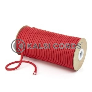 5mm Round Rose Madder Red Polyester Cord Braided String Drawcord Drawstring Joggers Hoody Bag T621 Kalsi Cords