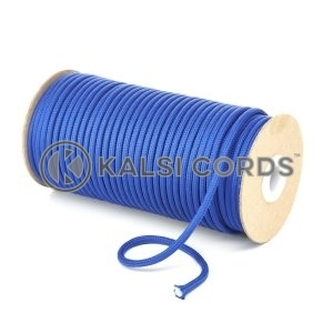 5mm Round Royal Blue Polyester Cord Braided String Drawcord Drawstring Joggers Hoody Bag T621 Kalsi Cords