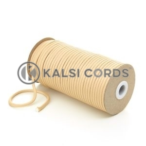 5mm Round Sahara Beige Polyester Cord Braided String Drawcord Drawstring Joggers Hoody Bag T621 Kalsi Cords