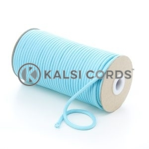 5mm Round Turquoise Polyester Cord Braided String Drawcord Drawstring Joggers Hoody Bag T621 Kalsi Cords