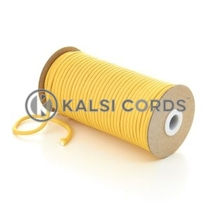 5mm Round Yellow Polyester Cord Braided String Drawcord Drawstring Joggers Hoody Bag T621 Kalsi Cords