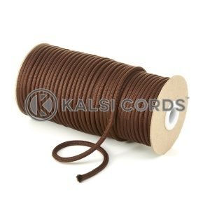 5mm Round York Brown Polyester Cord Braided String Drawcord Drawstring Joggers Hoody Bag T621 Kalsi Cords